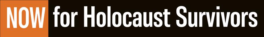 NOW for Holocaust Survivors logos